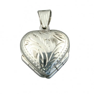 Children's Sterling Silver 4 Way Family Heart Locket On A Curb Necklace