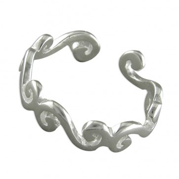 Sterling Silver Plain Scrolls Toe Ring