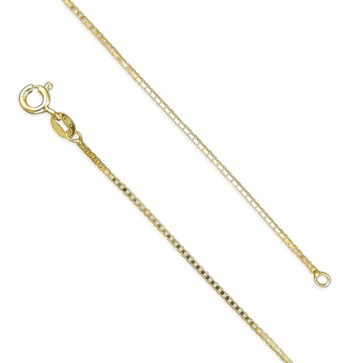 18K Gold Plated 20 Inch Light Box Chain