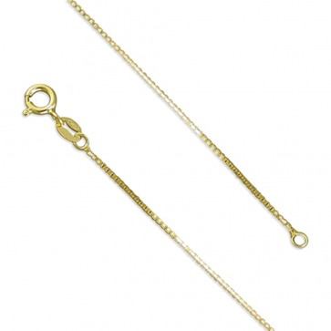 18K Gold Plated 18 Inch Medium Box Chain