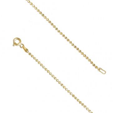 18K Gold Plated 24 Inch Diamond-Cut Bead Chain