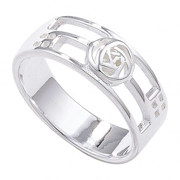 Sterling Silver Rennie Mackintosh Style Ring