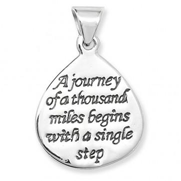 Sterling Silver Journey Engraved Pendant