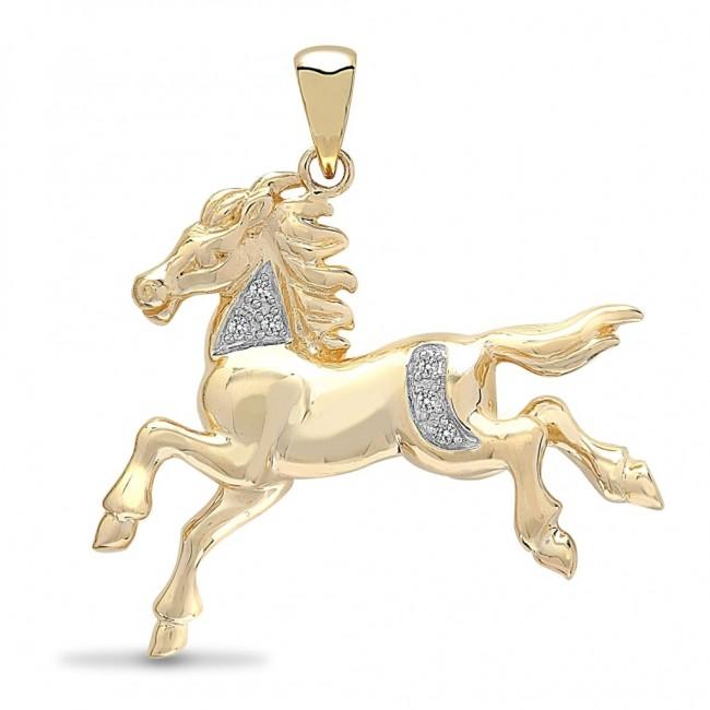 Buy mens 9ct 5pt diamond horse pendant on a curb necklace from mens 9ct 5pt diamond horse pendant on a curb necklace aloadofball Choice Image