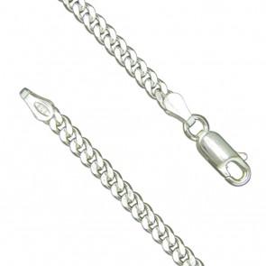 Sterling Silver Mens 7.25 Inch Curb Bracelet