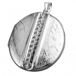 Sterling Silver Extra Large Victorian Oval Locket