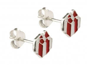 Sterling Silver Present Enamel Stud Earrings