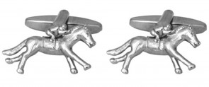 Novelty 3D Race Horse & Jockey Cufflinks