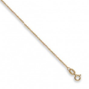 9ct Yellow Gold Diamond Cut Singapore Chain Necklace - 1mm Thick - Various Lengths - 16, 18 and 20 Inch Long