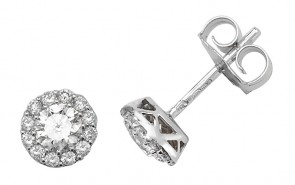 18ct White Gold 0.68ct Diamond Stud Earrings