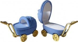 Blue Pram Ring Box