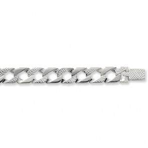 Sterling Silver Curb Chain Necklace - 10mm Thick - Various Lengths - 20, 22, 24 and 28  Inch Long