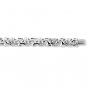 Sterling Silver Curb Chain Necklace - 9mm Thick - Various Lengths - 18, 20, 22, 24 and 28  Inch Long
