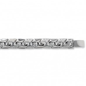 Sterling Silver Curb Chain Necklace - 11mm Thick - Various Lengths - 22, 24 and 28  Inch Long