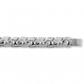 Sterling Silver Curb Chain Necklace - 13mm Thick - Various Lengths - 22, 24 and 28  Inch Long