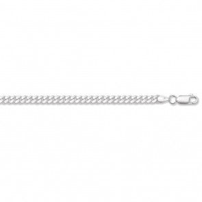 Sterling Silver Close Curb Chain Necklace - 4mm Thick - Various Lengths - 16, 18, 20, 22, 24, 26 and 30 Inch Long