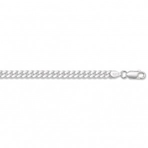 Sterling Silver Close Curb Chain Necklace - 5mm Thick - Various Lengths - 18, 20, 22, 24, 26 and 30 Inch Long