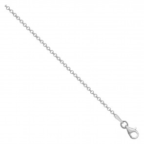 Sterling Silver Belcher Chain Necklace - 1mm Thick - Various Lengths - 16, 18 and 20 Inch Long