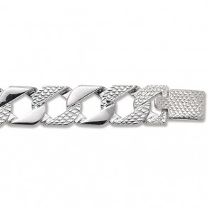 Sterling Silver Cast Curb Chain Necklace - 16mm Thick - Various Lengths - 22, 24, 26 and 30 Inch Long
