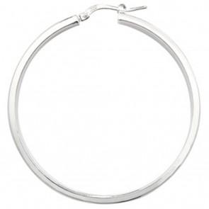 Sterling Silver 45MM Plain Hoop Earrings