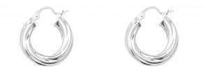 Sterling Silver 18MM Twisted Hoop Earrings