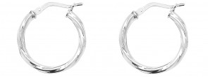 Sterling Silver 20MM Twisted Hoop Earrings