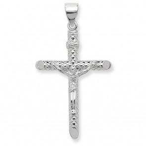Sterling Silver Large Crucifix Pendant