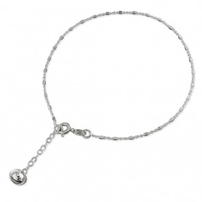 Sterling Silver Bell Drop Anklet