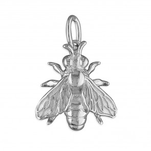 Children's Sterling Silver Honey Bee Pendant On A Curb Necklace