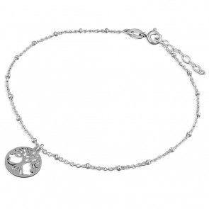 Sterling Silver Tree-Of-Life Anklet