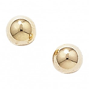9ct Gold 3MM Ball Stud Earrings