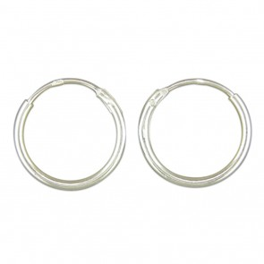 Sterling Silver 14MM Hoop Earrings