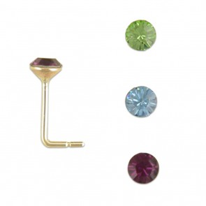 9ct Gold Triple Set Of Nose Studs
