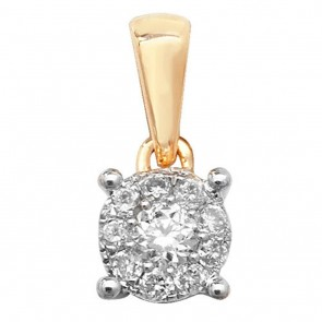 Children's 9ct Gold 0.1ct Diamond Pendant On A Prince of Wales Necklace