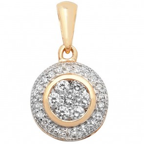 Children's 9ct Gold 0.25ct Round Set Diamond Pendant On A Prince of Wales Necklace