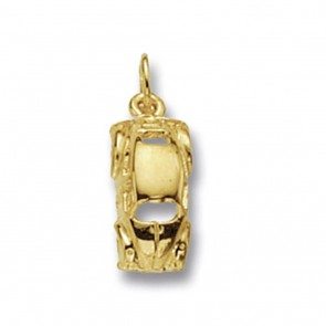 Children's 9ct Gold Beetle Car Pendant On A Prince of Wales Necklace