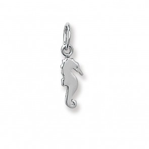 Children's 9ct White Gold Seahorse Pendant On A Prince of Wales Necklace