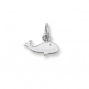 Children's 9ct White Gold Whale Pendant On A Prince of Wales Necklace