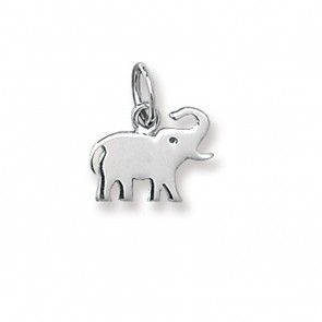9ct White Gold Elephant Necklace