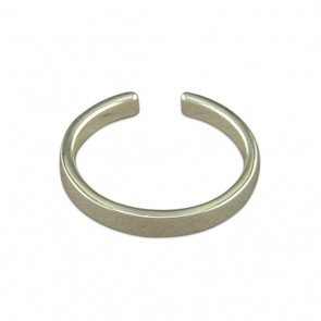 Sterling Silver Plain Narrow Band Toe Ring