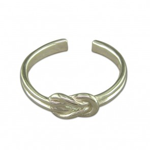 Sterling Silver Plain Reef Knot Toe Ring