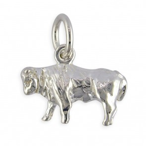 Sterling Silver Zodiac Sign Taurus Pendant On A Snake Necklace