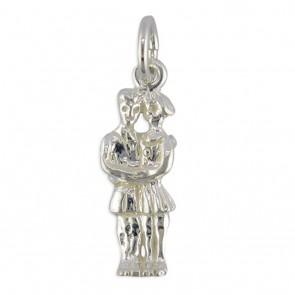 Sterling Silver Zodiac Sign Gemini Pendant On A Snake Necklace