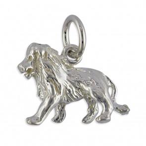 Sterling Silver Zodiac Sign Leo Pendant On A Snake Necklace