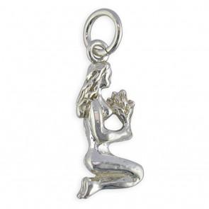 Sterling Silver Zodiac Sign Virgo Pendant On A Snake Necklace