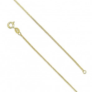 18K Gold Plated 16 Inch Curb Chain