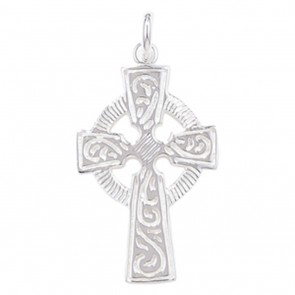 Sterling Silver Celtic Cross Pendant On A Snake Necklace