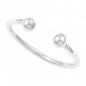 Childrens Sterling Silver Torque Christening Bangle