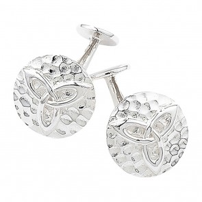 Sterling Silver Hammered Celtic Cufflinks