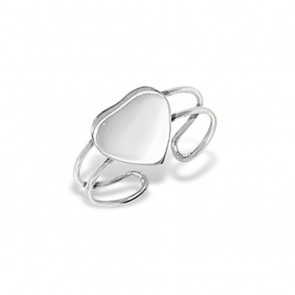 Sterling Silver Heart Toe Ring